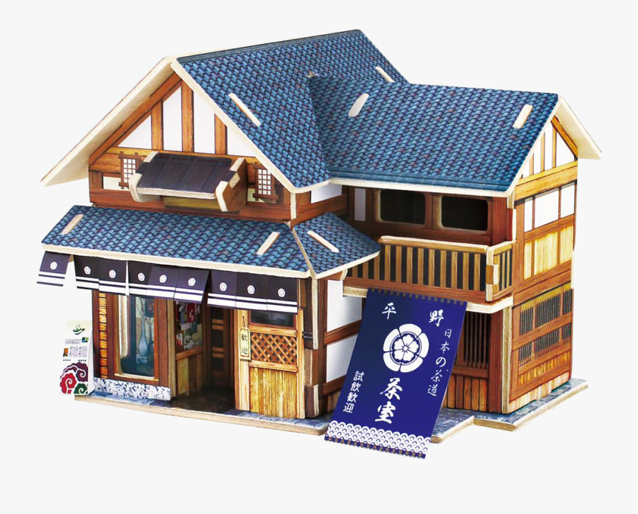 Japan Jigsaw Puzzle Puzz 3d Wood Model Building - Japanese Style Wooden House, Transparent Clipart