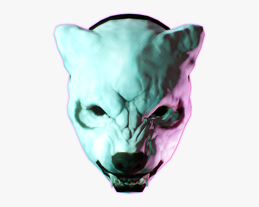 Hotline Miami D - Payday 2 Hotline Miami Wolf, Transparent Clipart