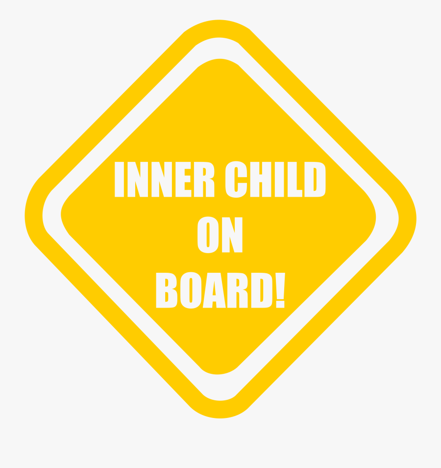 Inner Child Onboard Clip Arts - Sign, Transparent Clipart