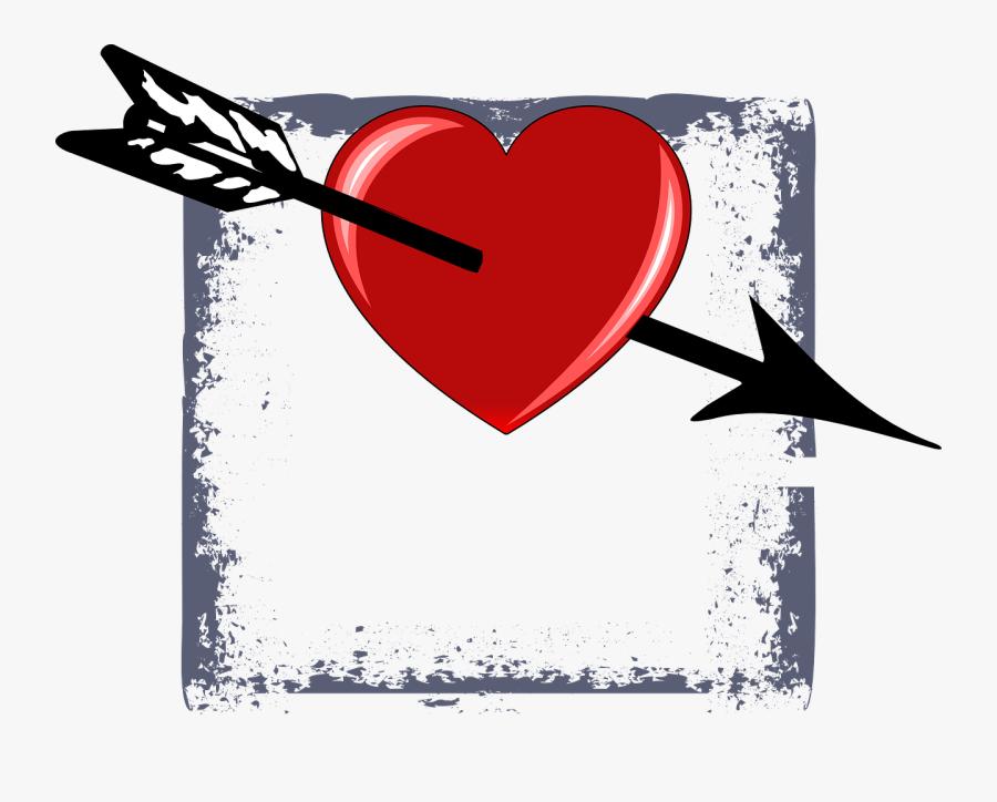Transparent Heart Arrow Png - Arrow San Valentin, Transparent Clipart