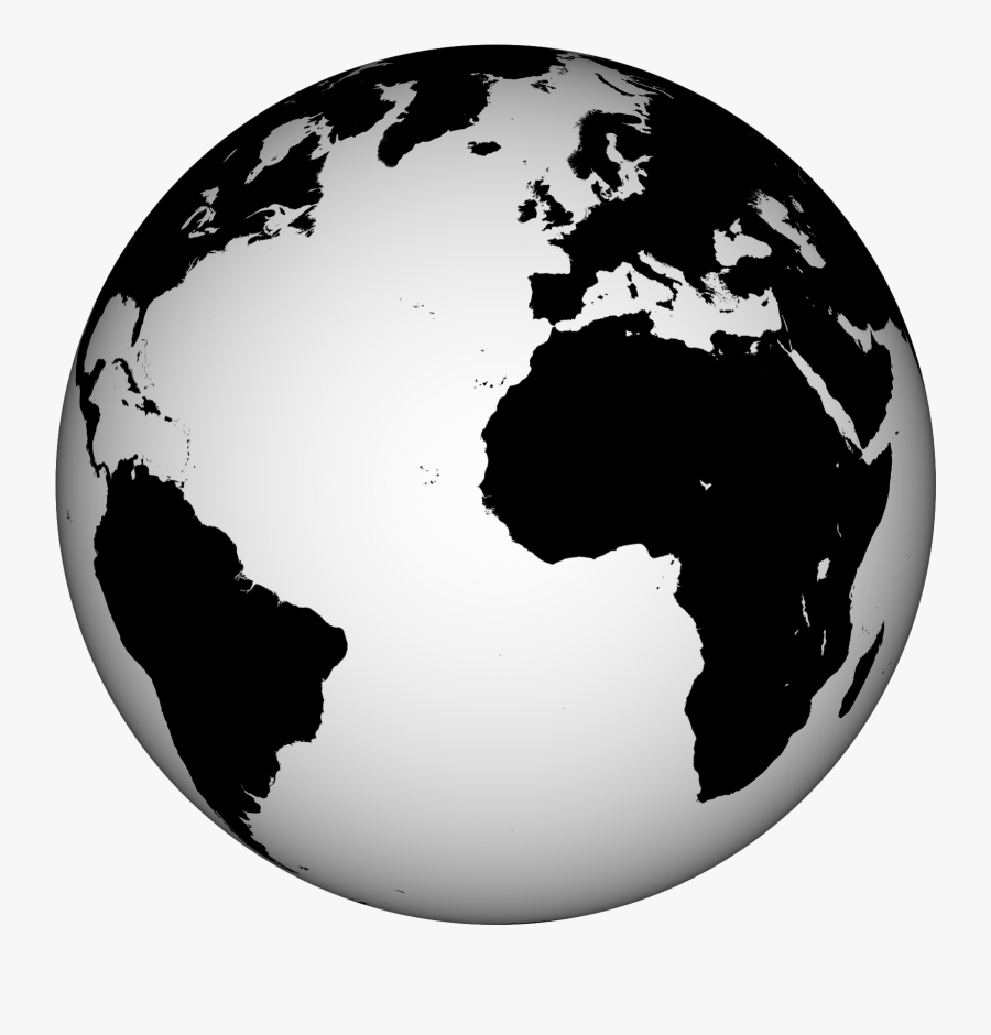 Clip Art Black And White Earth Image - Red World Globe Png, Transparent Clipart