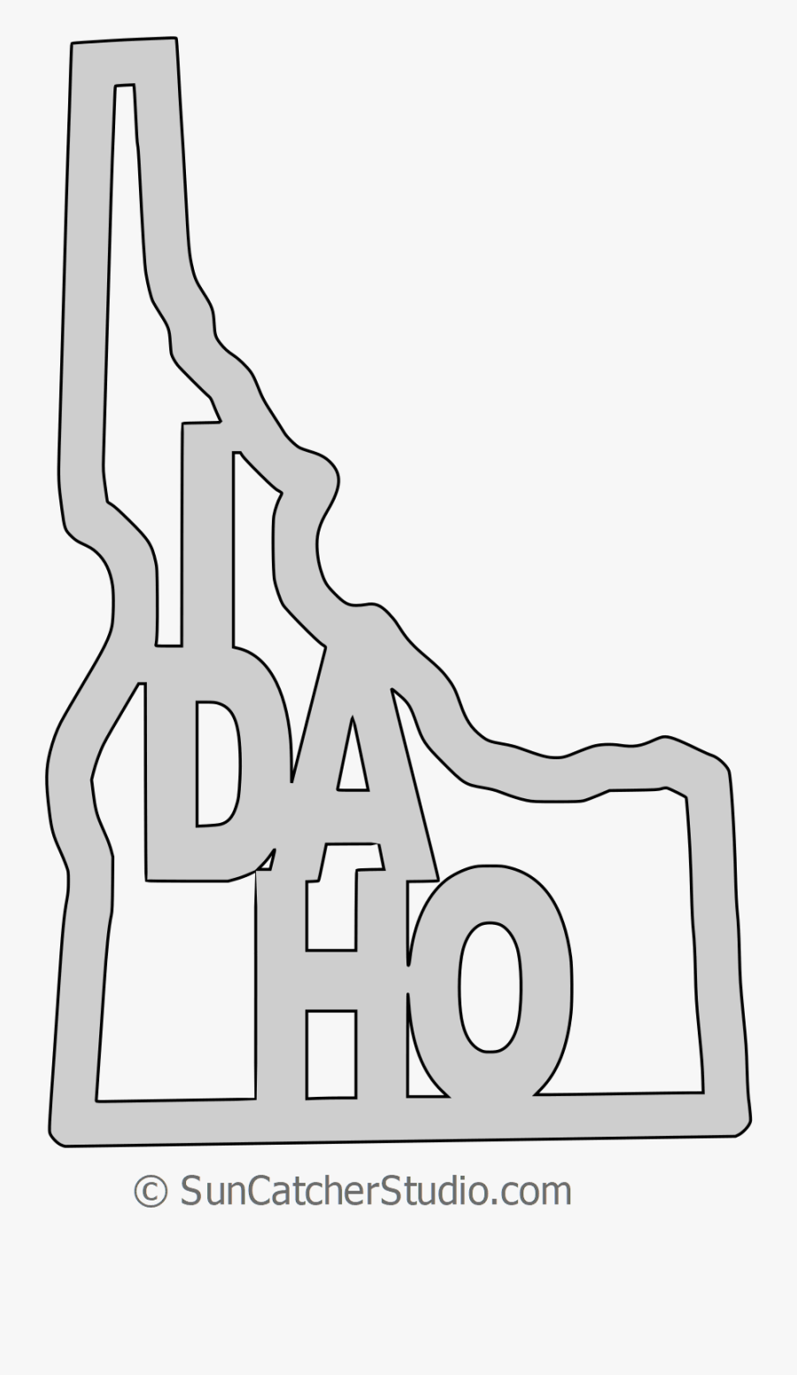 Clip Art Map Printable State Shape - Line Art, Transparent Clipart