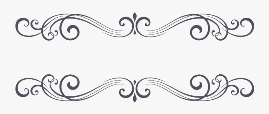 Transparent Vintage Borders Png - Ornament Black Png, Transparent Clipart