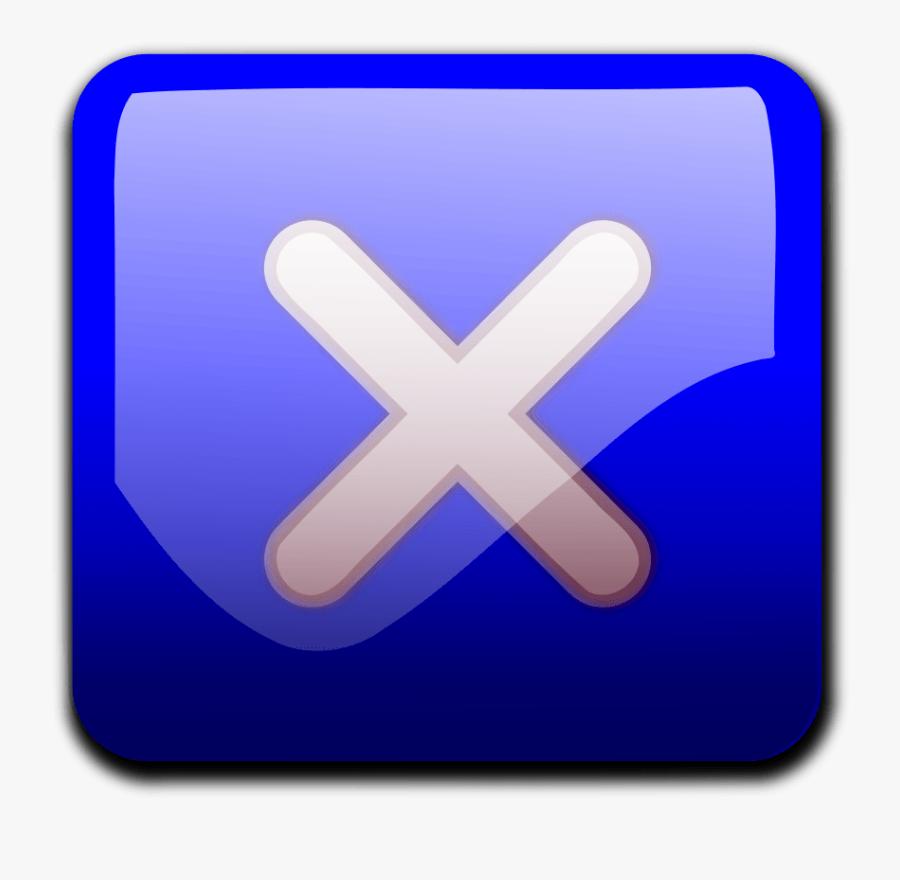 Close Button Blue - Close Button Vector Ai, Transparent Clipart
