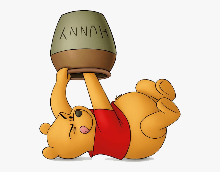 Winnie Pooh Honey Pot Clip - Winnie The Pooh With Honey Pot, Transparent Clipart
