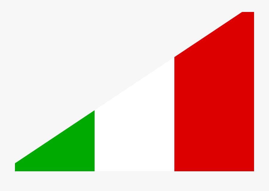 Diagonal Flag Italy Br Flag- - Flag, Transparent Clipart