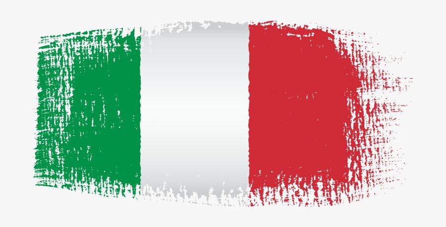Italian Flag Brush Effect - Italy Flag Transparent Background, Transparent Clipart
