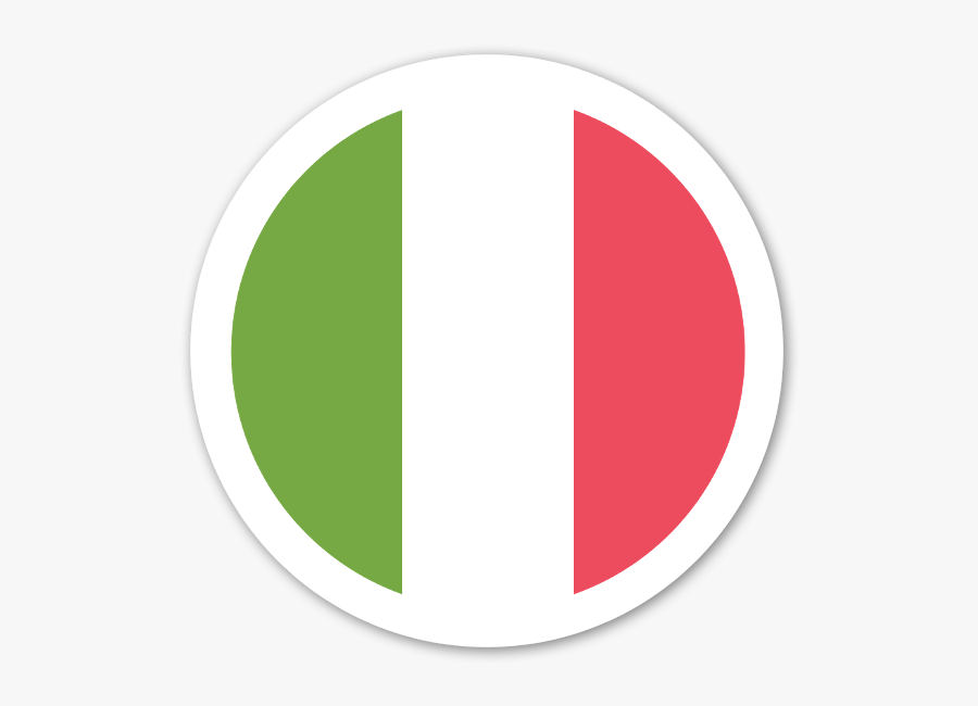 Italy Flag Sticker Clipart , Png Download - Circle, Transparent Clipart