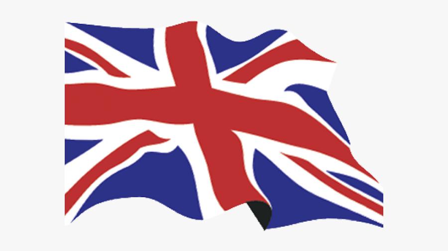 Waving Union Jack Flag, Transparent Clipart