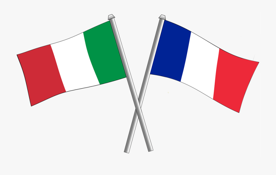 France Friendship Flag Flags Crossbred Italy - Italy And France Flag Png, Transparent Clipart