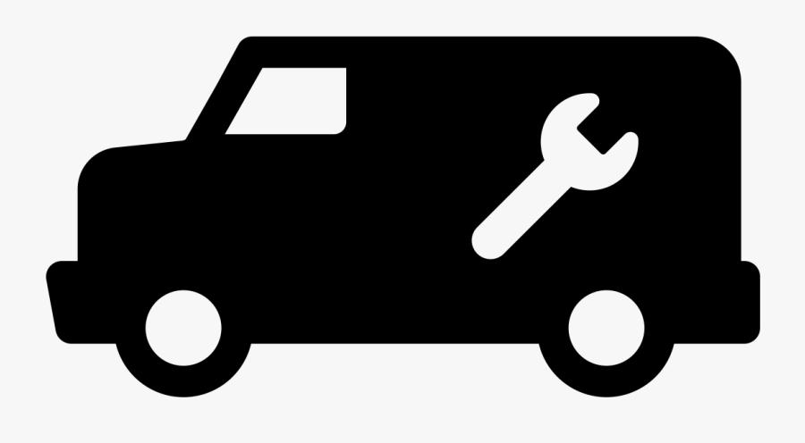Service Van Logo, Transparent Clipart