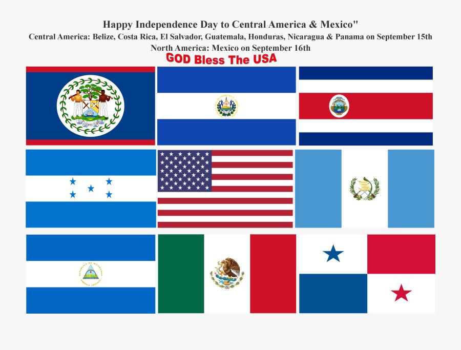 Belize Flag Clipart Belize Web Page Flag - Central America Flags, Transparent Clipart