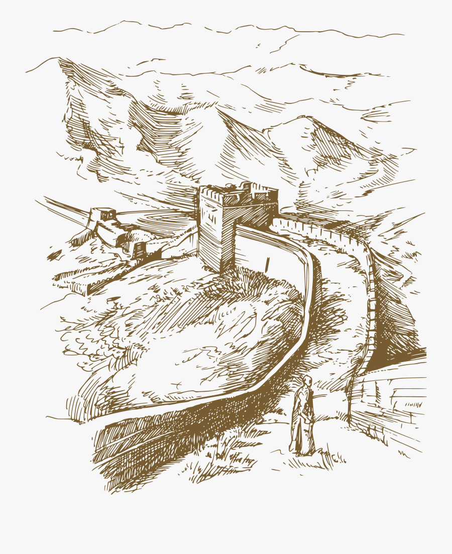 Great Wall Of China Illustration, Transparent Clipart