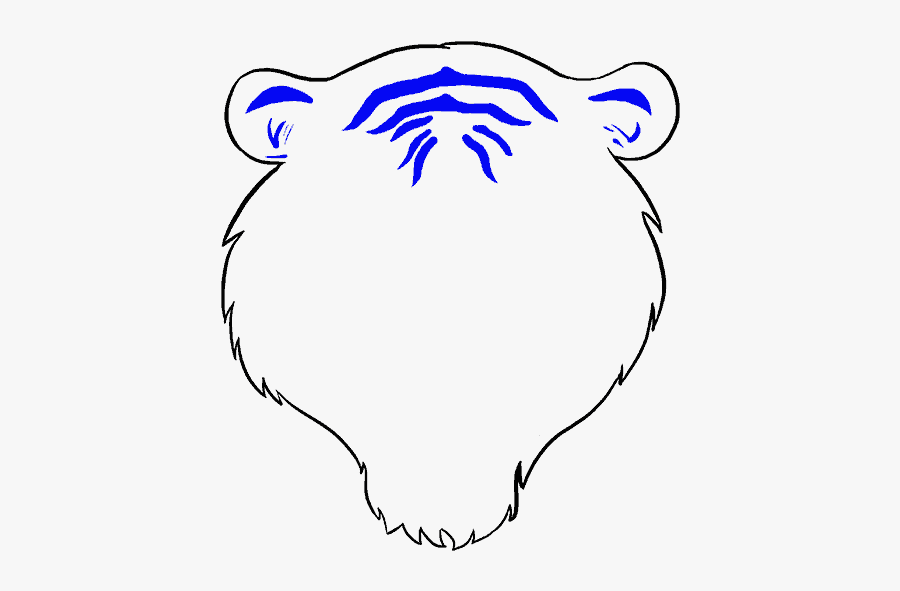 How To Draw A Tiger Face In A Few Easy Steps Easy Drawing - Step By Step Face Easy Tiger Drawing, Transparent Clipart