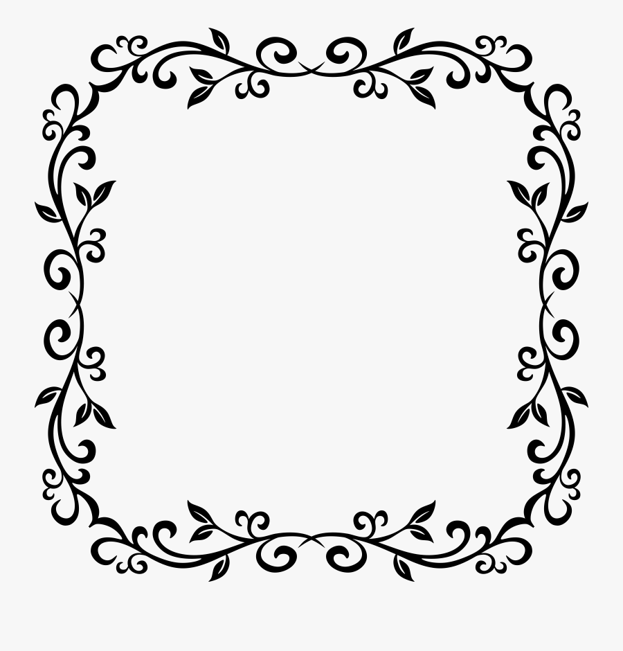 Drawing Line Art Microsoft Word Download - Square Frame Clipart Png, Transparent Clipart