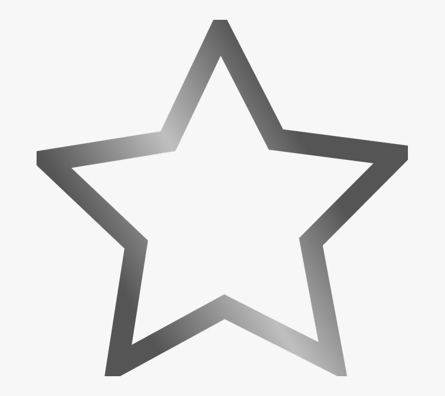 Star, Favorite, Bookmark, Gray, Grey - Bookmark Star, Transparent Clipart