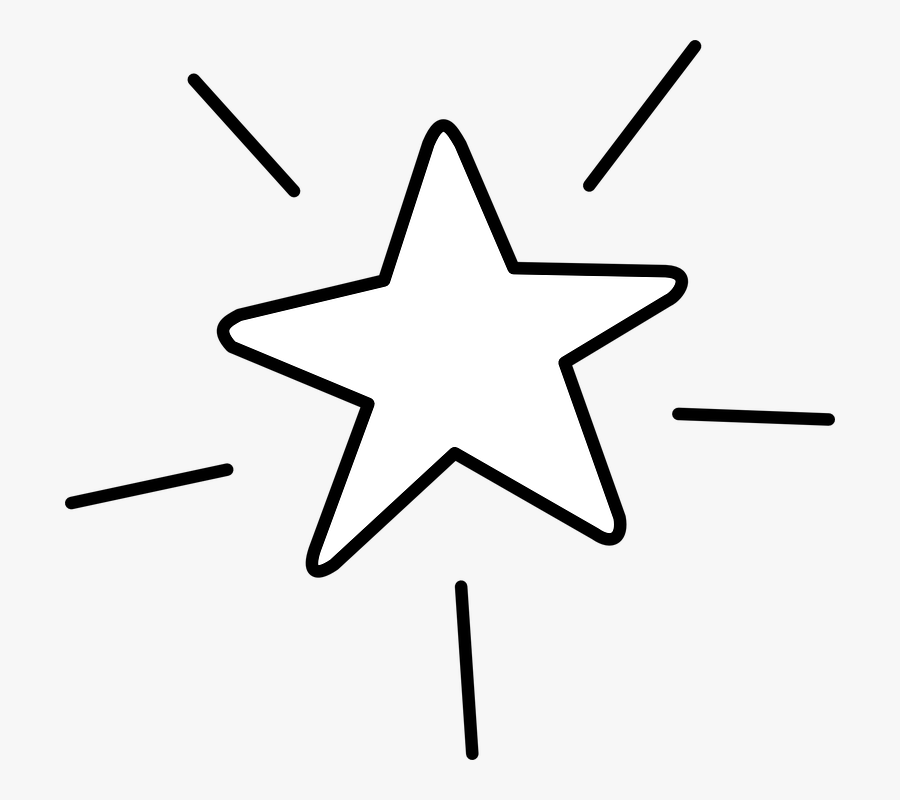 Star, Favorite, Shine, Bookmark - Shining Star Clipart Black And White, Transparent Clipart