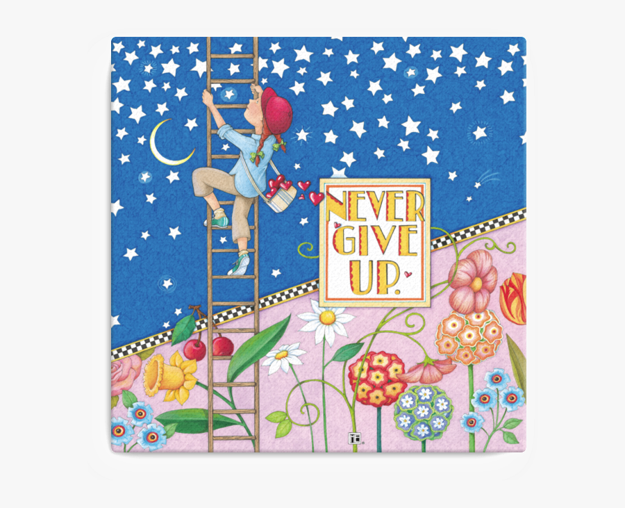 Mary Engelbreit Never Give Up, Transparent Clipart