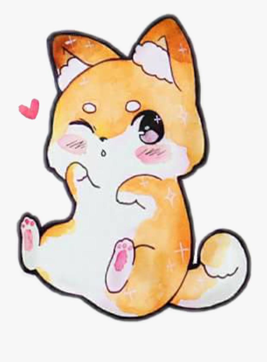 Shibe Dog Puppy Animal Chibifreetoedit Shiba Inu Puppy Drawing Free Transparent Clipart Clipartkey