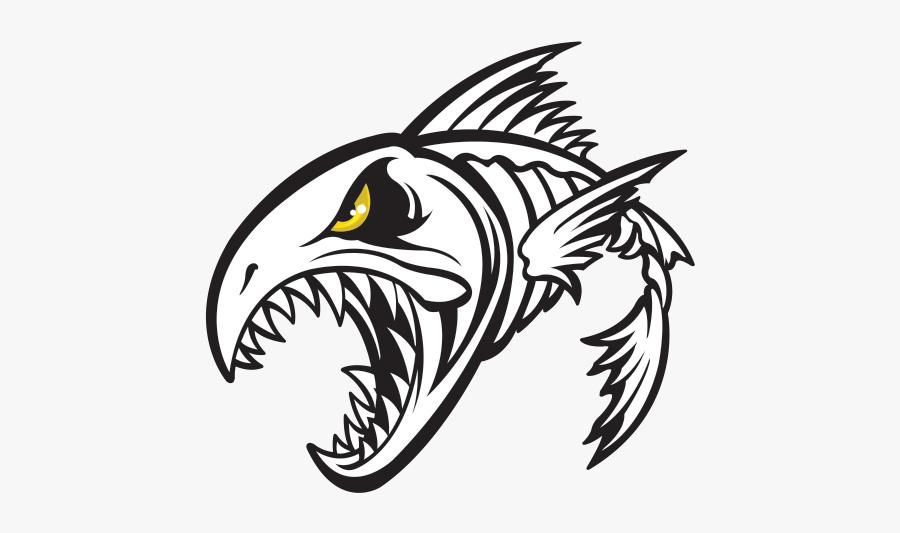 Fish Bone Skeleton Skull - Skull Fish Png, Transparent Clipart