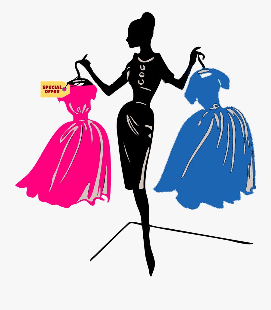 Transparent Market Stall Clipart - Fashion Show Art Hd, Transparent Clipart