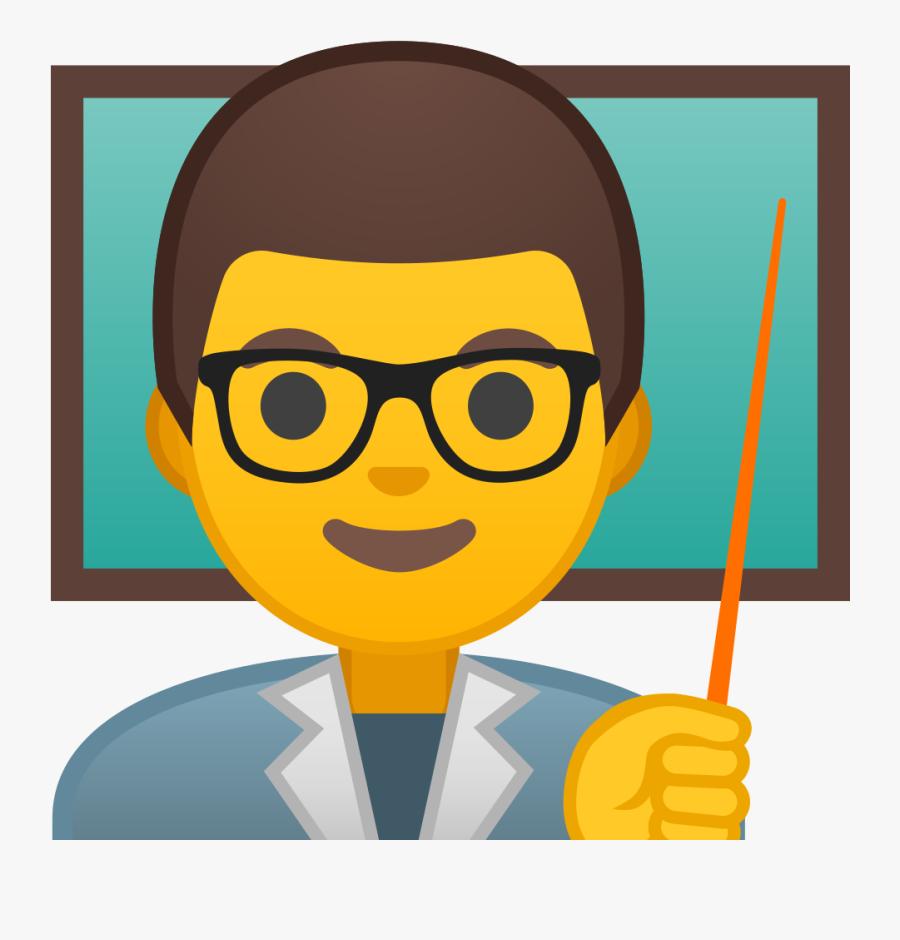 Man Teacher Icon - Teacher Emoji Png, Transparent Clipart