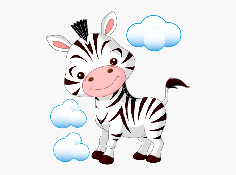 Transparent Zebra Cartoon Clipart - Cartoon Pictures For Baby Room, Transparent Clipart