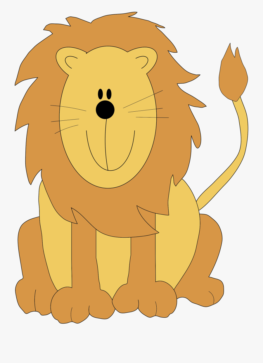 Transparent King Cartoon Png - Cute Lion Clip Art, Transparent Clipart