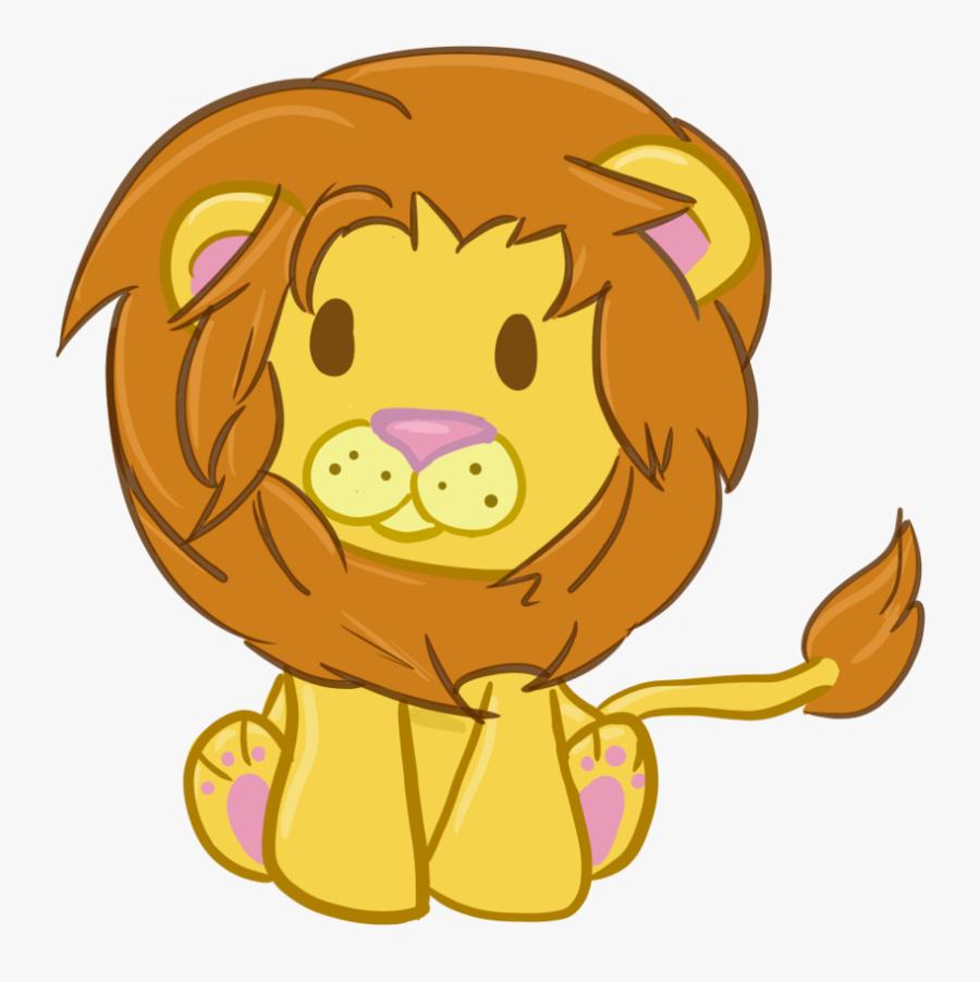 Cute Clipart Lion - Chibi Cute Lion Drawing, Transparent Clipart
