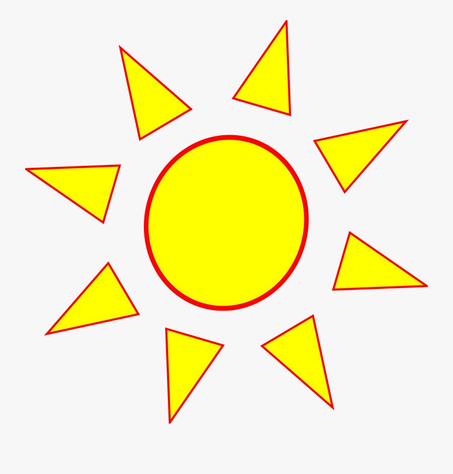 Sun Clipart Pdf - Sun Clip Art With Triangles, Transparent Clipart