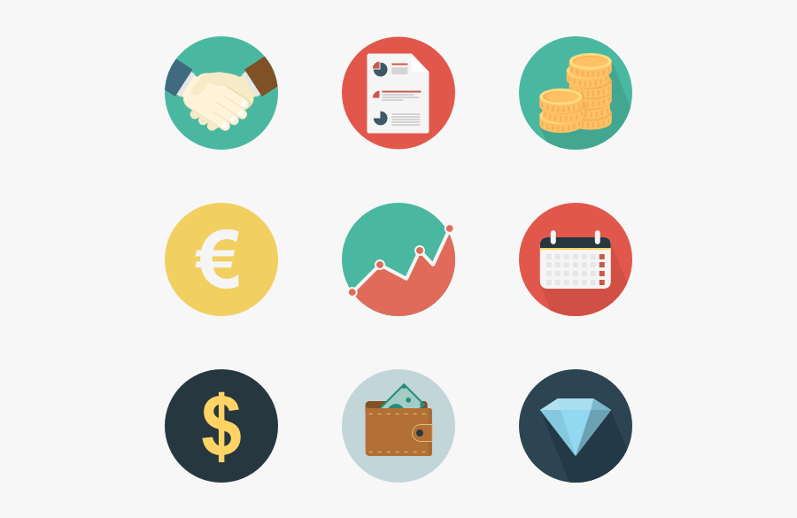 Icons Free Vector Business - Business And Finance Icons Png, Transparent Clipart