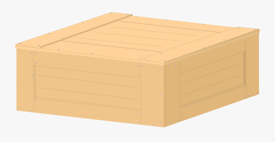 Box,angle,lumber - Crate Vector, Transparent Clipart