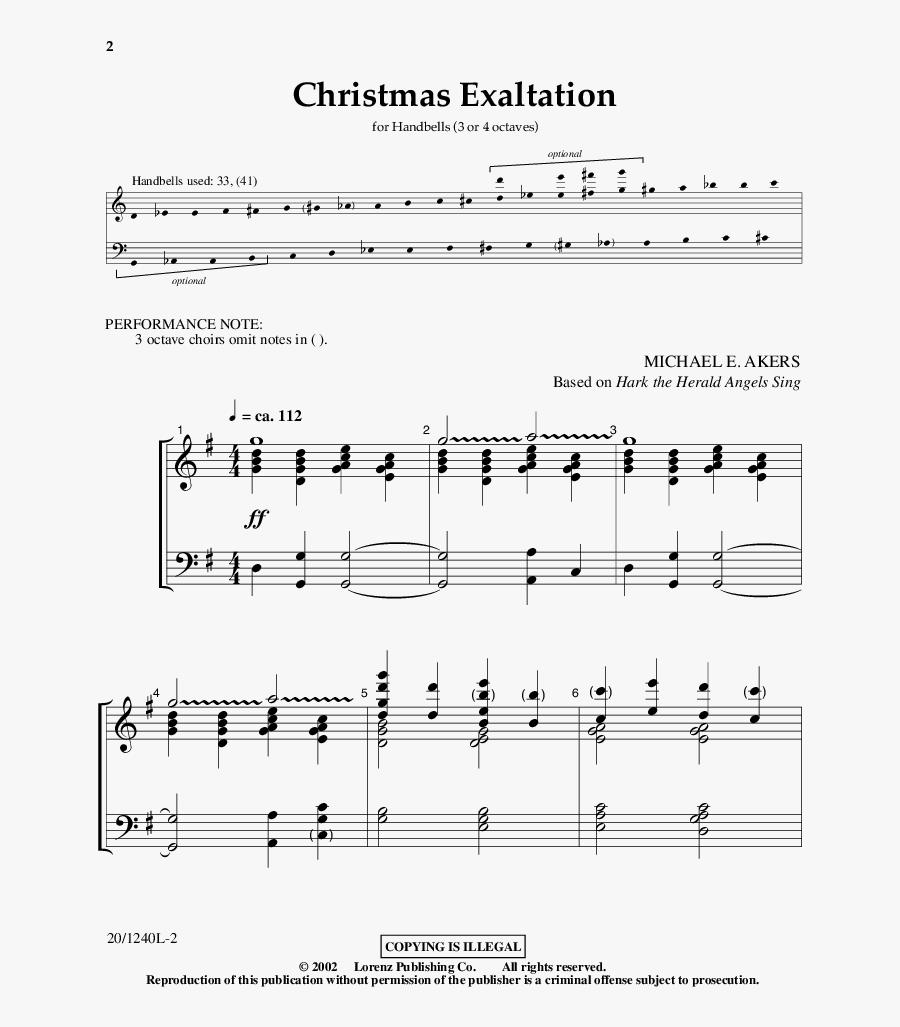 Note Handbell Christmas Music - Sheet Music, Transparent Clipart