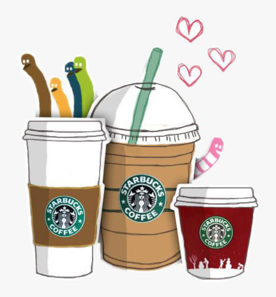 Coffee Iced Tea Starbucks Cafe Hand-painted - Clipart Starbucks Coffee Cup, Transparent Clipart