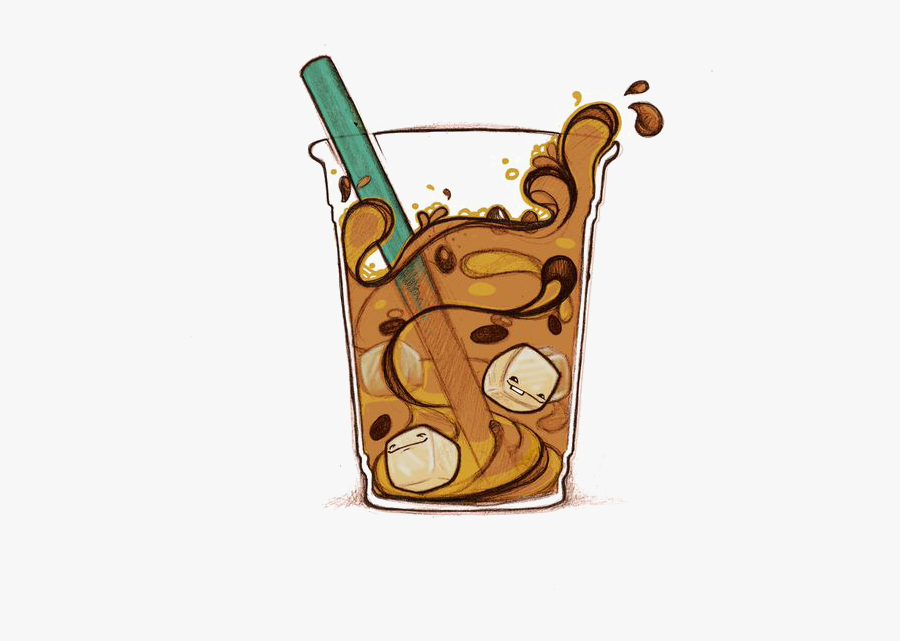 Coffee Iced Soft Drink Mocha Cafe Caffxe8 - Iced Caramel Macchiato Clipart, Transparent Clipart