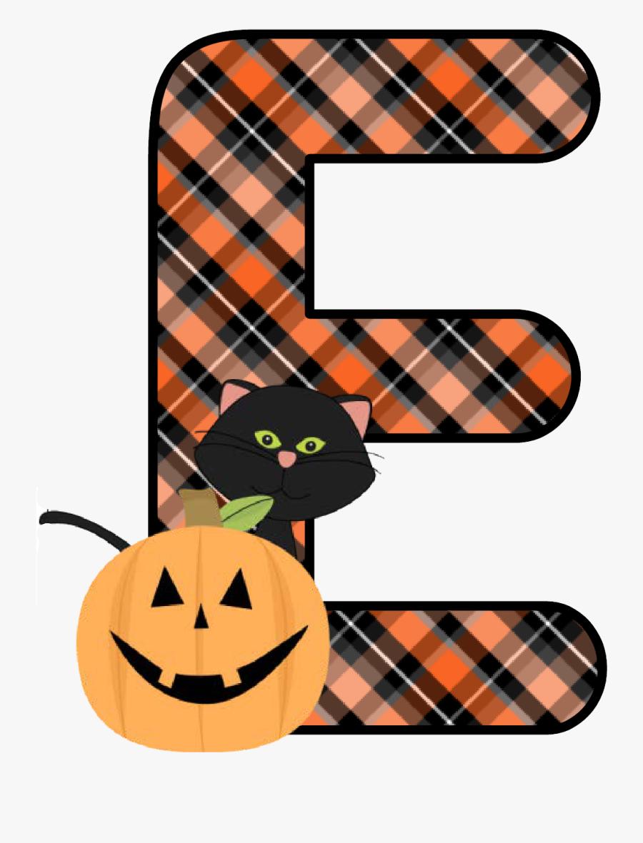 Halloween Clipart Alfabeto - Free Printable Halloween Alphabet Letters, Transparent Clipart