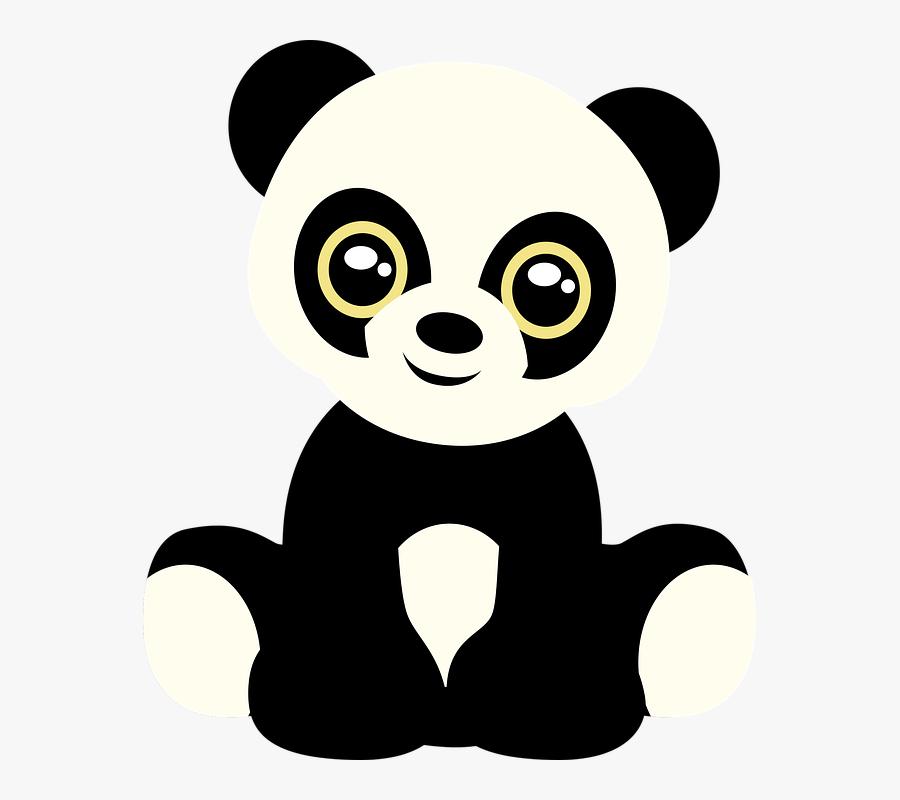 Baby Panda Cliparts 7, - Cute Good Morning Panda, Transparent Clipart
