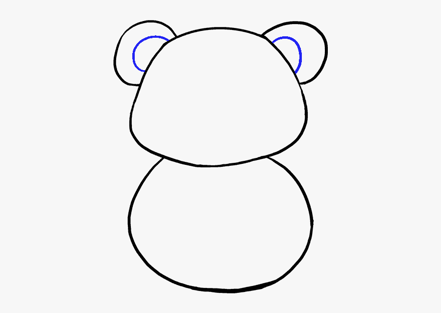 Clip Art Panda Cartoon Picture - Draw A Cute Baby Panda Step By Step Easy, Transparent Clipart