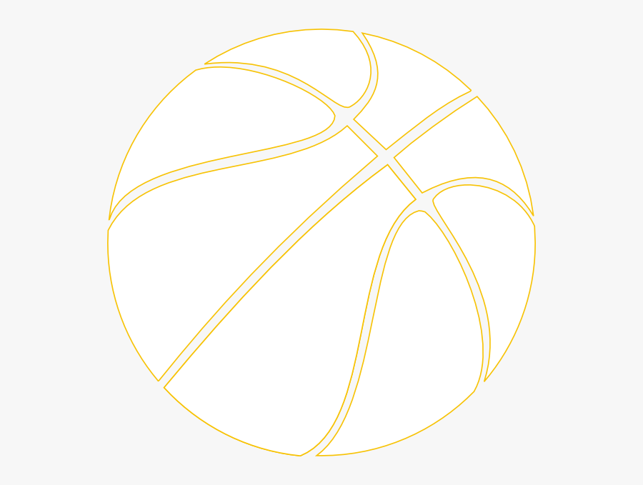 Gold Outline Basketball Clip Art At Clipart Library - Basketball Themed Invitation Template, Transparent Clipart