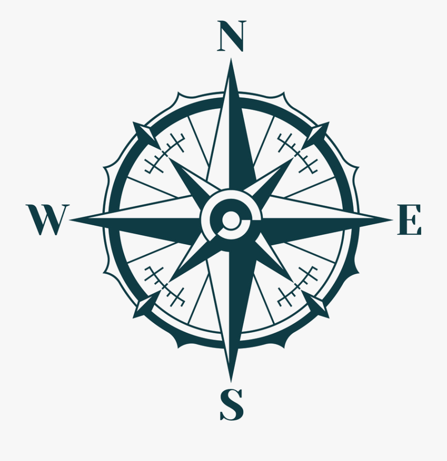 Compass Vector Clipart , Png Download - East West North South Logo, Transparent Clipart
