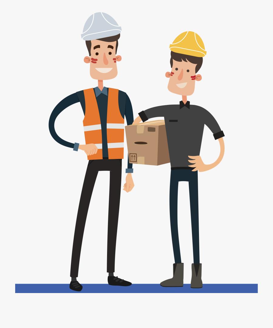 Industrial Worker Clipart Blue Collar Job - Cartoon, Transparent Clipart