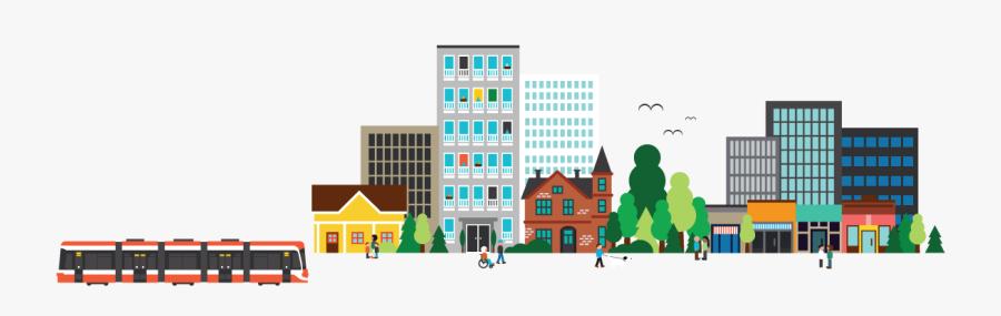 City Building Illustration Png, Transparent Clipart