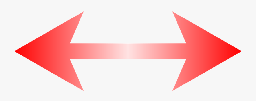 Double Sided Red Arrow, Transparent Clipart