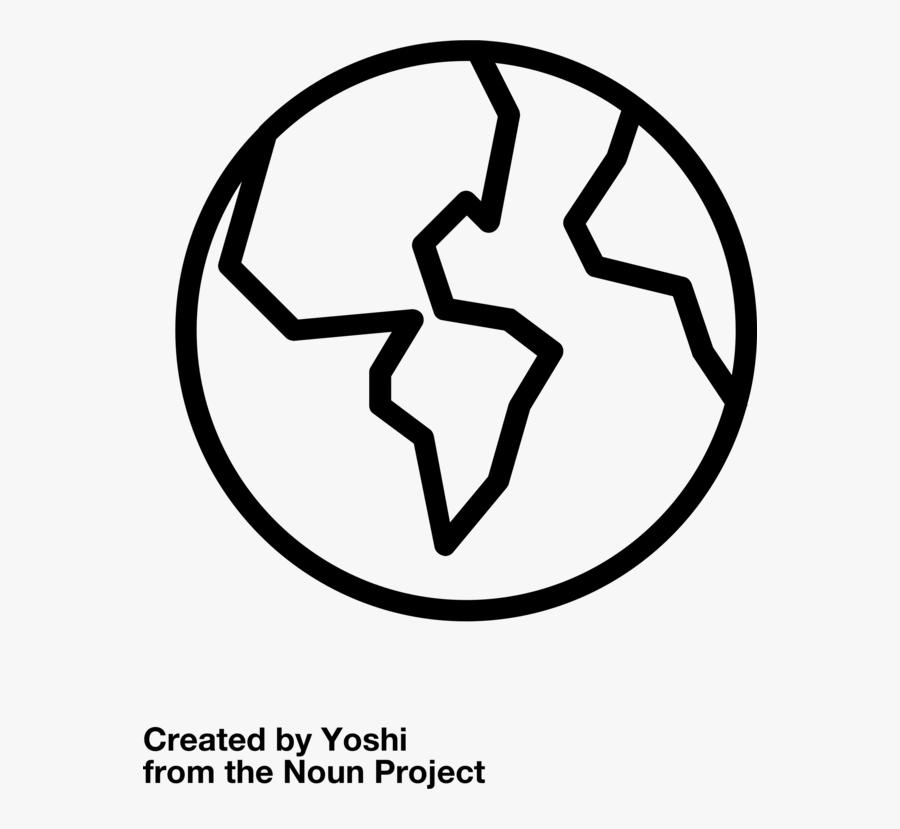 Line Art,coloring Book,symbol - Earth Outline Png, Transparent Clipart