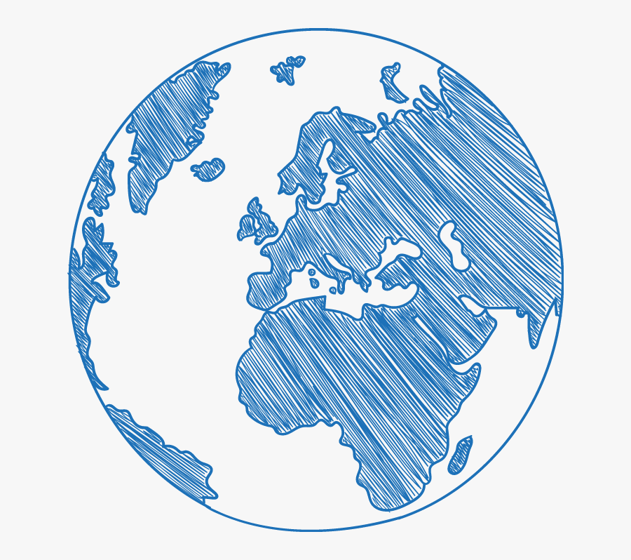 Blue Resource Science Euclidean Vector Social Earth - Sketch Of The World Png, Transparent Clipart