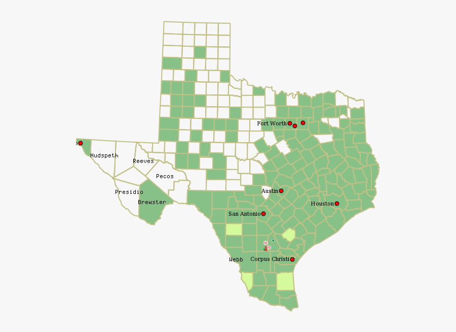 Bluebonnet Oil & Gas - Bald Eagles In Texas Map, Transparent Clipart