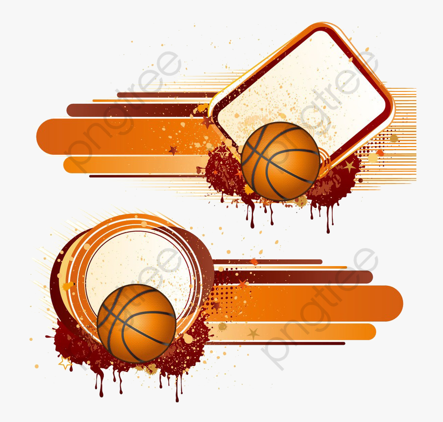 Basketball Clipart Border Basketball Vector Template Background Free Transparent Clipart Clipartkey