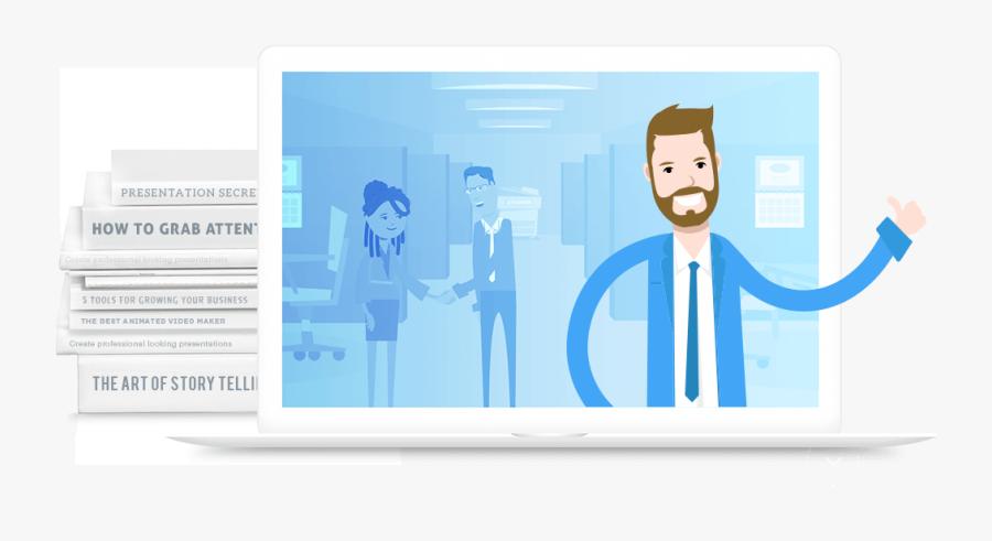 Powtoon Animated Video Creator - Make Video Presentation, Transparent Clipart