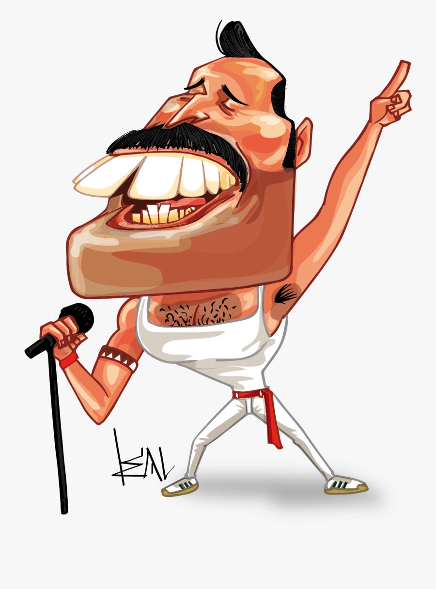 Freddie Mercury And Freddy Fazbear, Transparent Clipart