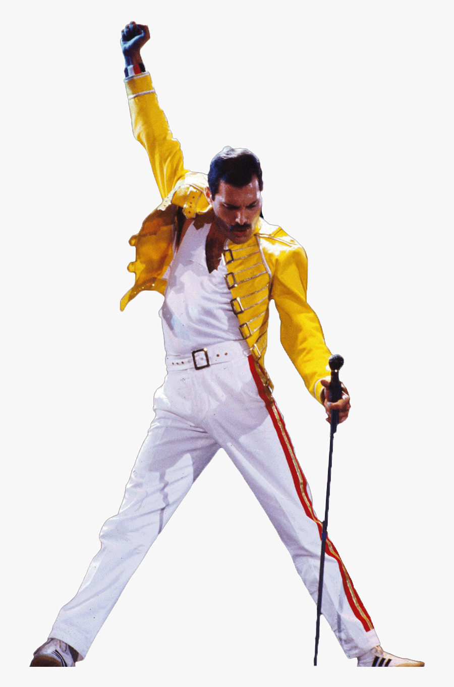 Freddie Mercury Png - Freddie Mercury Yellow Jacket Pose, Transparent Clipart